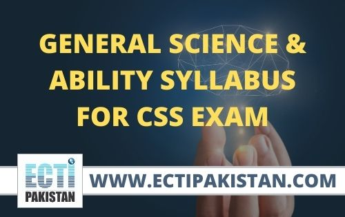 General Science & Ability SYLLABUS