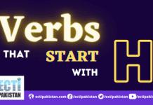 Verbs Start With H