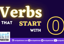Verbs start with O