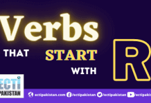 Verbs start with R
