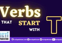 Verbs Start With T