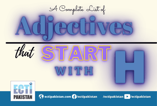 Adjectives Start With H