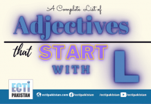 Adjectives Start With L
