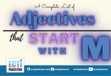 Adjectives start with M