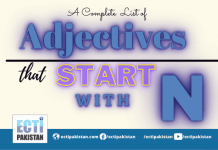 Adjectives start with N