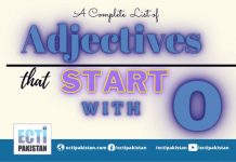 Adjectives Start With O