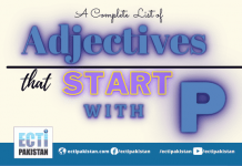 Adjectives Start With P
