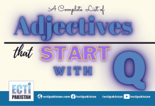 Adjectives Start With Q