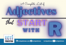 Adjectives Start With R