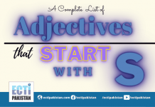 Adjectives Start With S