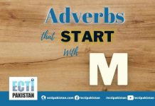 Adverbs Start With M