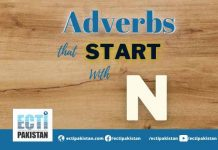Adverbs Start With N