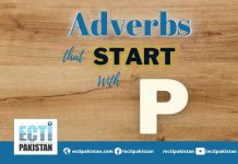 Adverbs Start With P