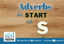Adverbs start with S