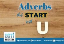 Adverbs Start With U