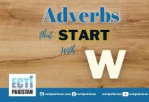 Adverbs Start With W