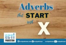 Adverbs Start With X