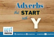 Adverbs Start With Y