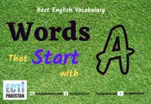 Words start with A