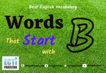 Words Start With B