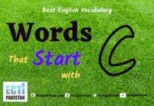 Words Start with C