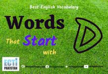 Words Start With D